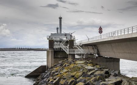 Storm protection Delta works Oosterscheldekering in Zeeland, Netherlands Stockfoto