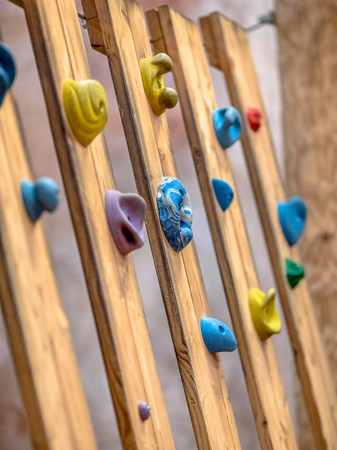 Climbing grips in indoor advanture facility as a concept for business problems Reklamní fotografie
