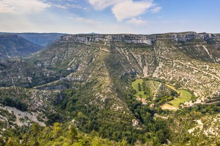 Grand Site of the Circus of Navacelles in Gorges La Vis in Cevennes, Southern France 版權商用圖片