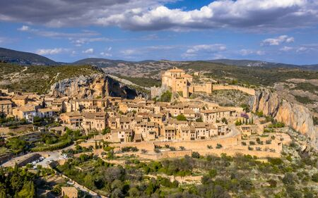 Village of Alquezar in Sierra de Guara in the Spanish Pyrenees near Huesca, Aragon, Spain
