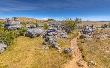 Chaos de Nîmes-le-Vieux rock formation on the limestone karst highland plateau of Causse Méjean, France