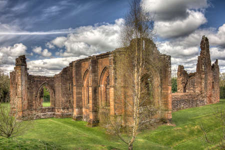 priory: HDR shot of the South East corner view of Lincluden Collegiate Church also know as Priory or Abbey in Dumfries. Stock Photo