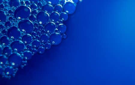 Blue dense little bubble foam clean wallpaper