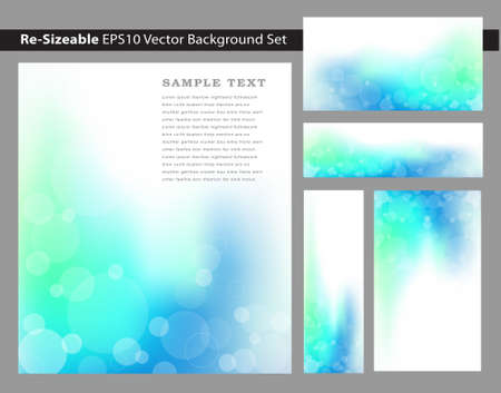resizable: Re-sizable Abstract Cool Blue EPS10 Vector an jpg Background Templates with circle graphics and plenty of text space.