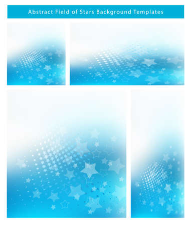 resizable: Re-sizable Abstract Cool Blue EPS10 Vector an jpg Background Templates with blue star field and plenty of text space. Illustration