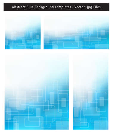 resizable: Re-sizable Abstract Cool Blue EPS10 Vector an jpg Background Templates with rectangles and plenty of text space.