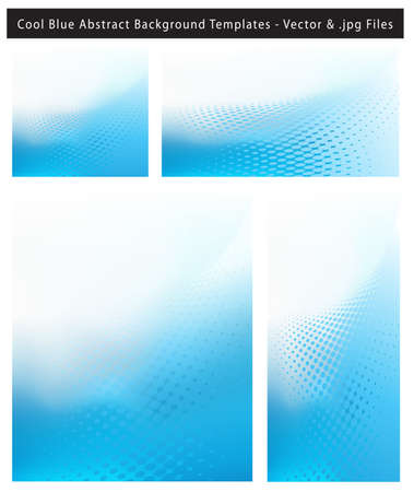 resizable: Re-sizable Abstract Cool Blue EPS10 Vector an jpg Background Templates with dot waves and plenty of text space. Illustration