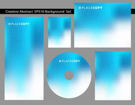 eps10: Re-sizable Abstract Cool Blue EPS10 Vector an jpg Background Templates with poka-dots and plenty of text space.