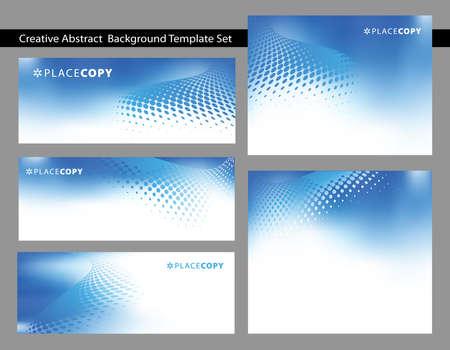 Keuze van abstracte donkerblauwe achtergrond sjablonen met wervelingen dot met veel kopie ruimte