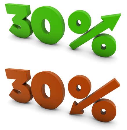 30 percent 版權商用圖片