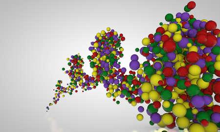 translucent: spiral of balls Stock Photo