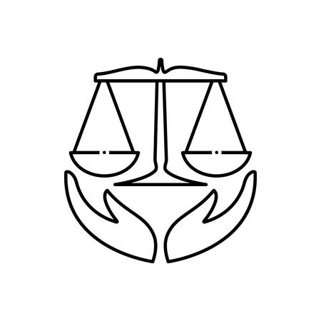Law insurance icon Standard-Bild - 123454352