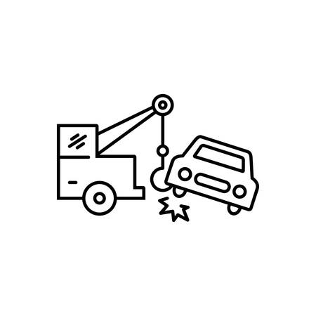 Car towing  icon Banque d'images - 123454355