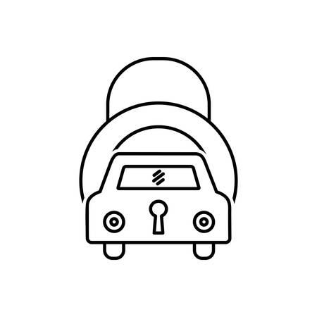 Auto insurance icon Illustration