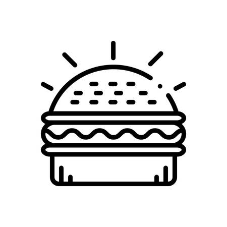 Burger icon Illustration