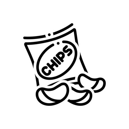Potato chips icon