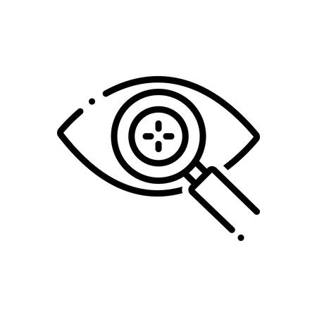 Eye detect icon Illusztráció