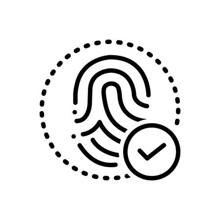 Fingerprint identity icon
