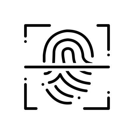 Fingerprint scanner icon 일러스트