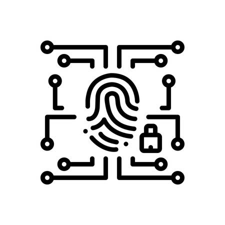 Biometric data security  icon Çizim
