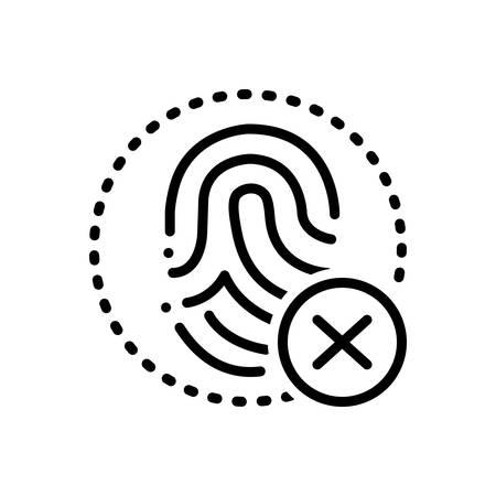 Fingerprint cancelation icon Zdjęcie Seryjne - 123561116