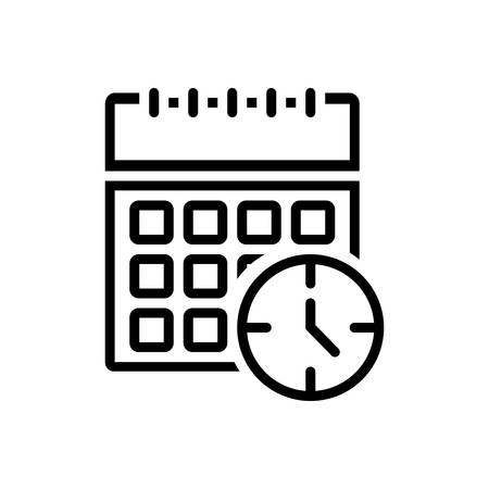 Time calendar icon