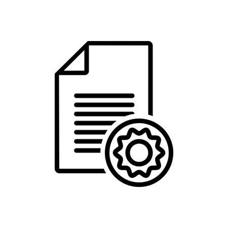 Document icon 일러스트