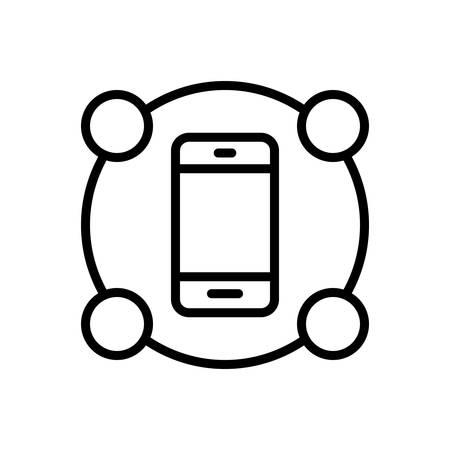 Features mobile icon Ilustração