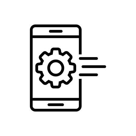 Mobile app icon Illustration