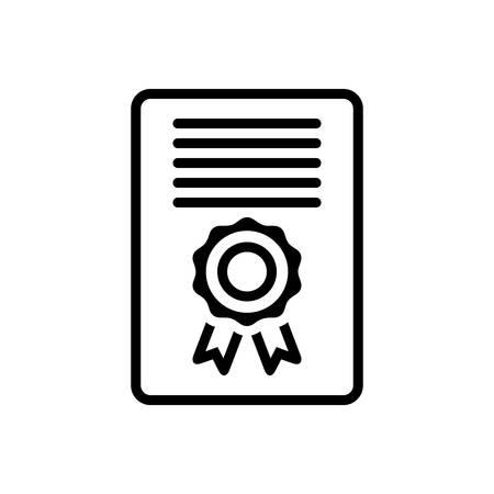 Certificate icon Stockfoto - 123561395