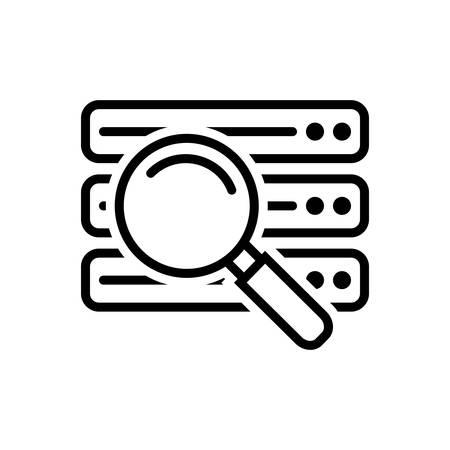 Data find icon 向量圖像