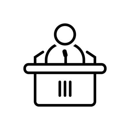 Conference icon Иллюстрация