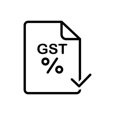Icon for gst ,paid 일러스트