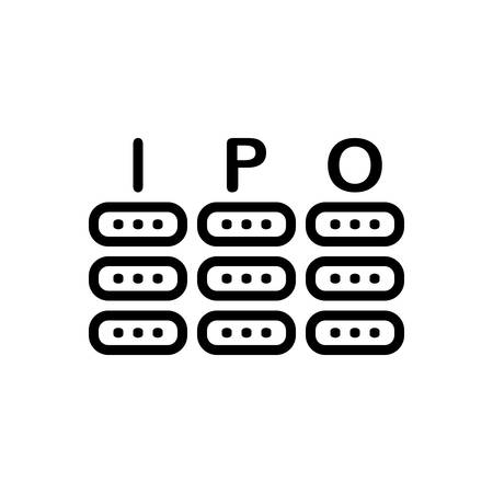 Icon for ipo, money 일러스트