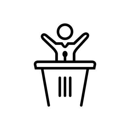 Icon for speech ,politics