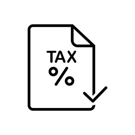 Icon for tax, paid