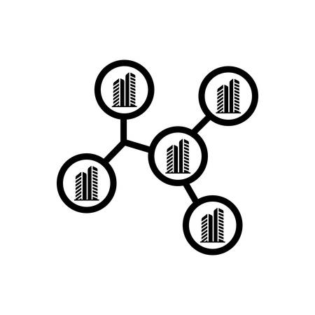 Icon for compenies, architecture Illusztráció