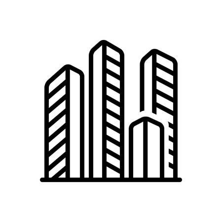 Icon for compenies, offices Ilustração