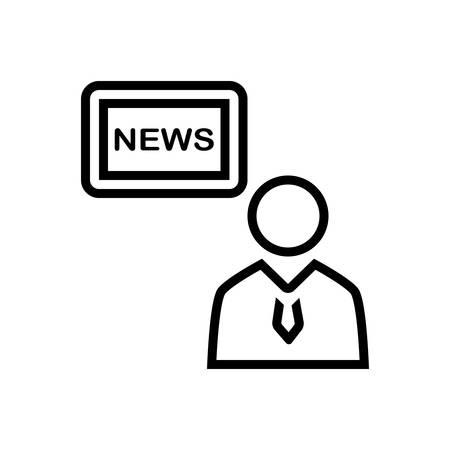 Icon for news ,anchor Ilustração