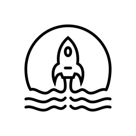 Icon for startup, project Stock Illustratie