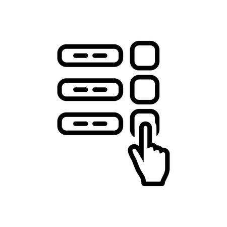 Finger poll icon 일러스트