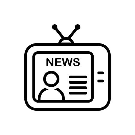 Television icon Illustration