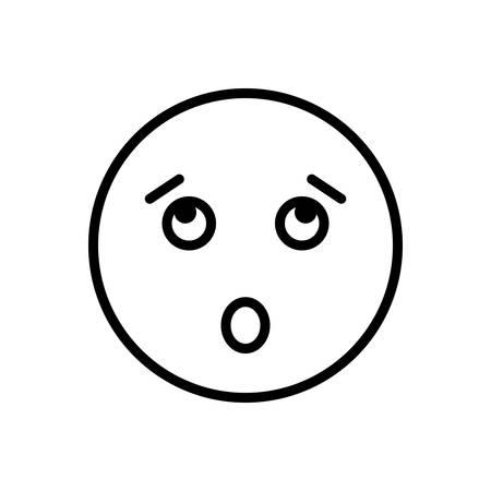 Surprised icon Illustration