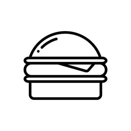 Burger icon Stock Illustratie