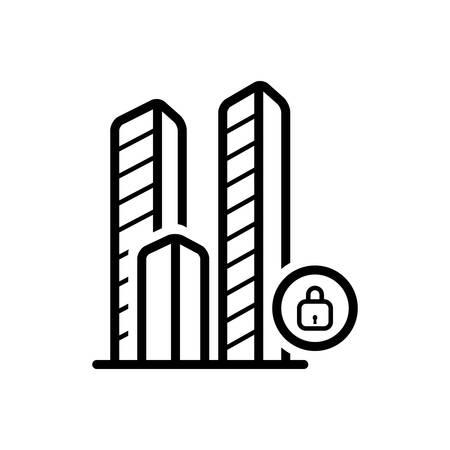 Close city icon Иллюстрация