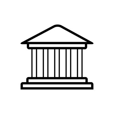 Monument building icon