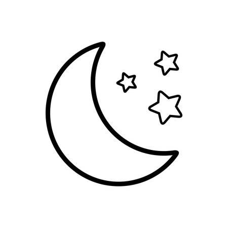Moon icon Ilustracja