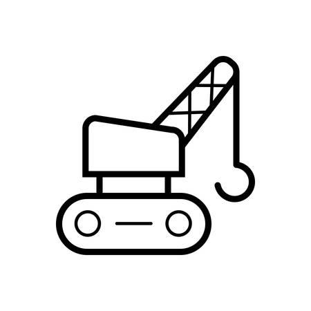 Crane icon Stok Fotoğraf - 123672820