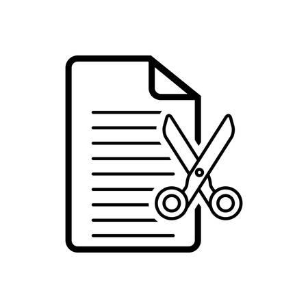 Cut document icon