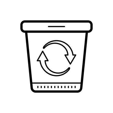 Recycle bin icon Banque d'images - 123672902